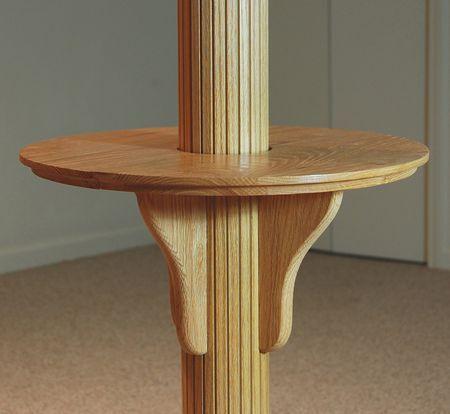 Basement Pole Wrap Drink Table, Basement Pole Drink Shelf