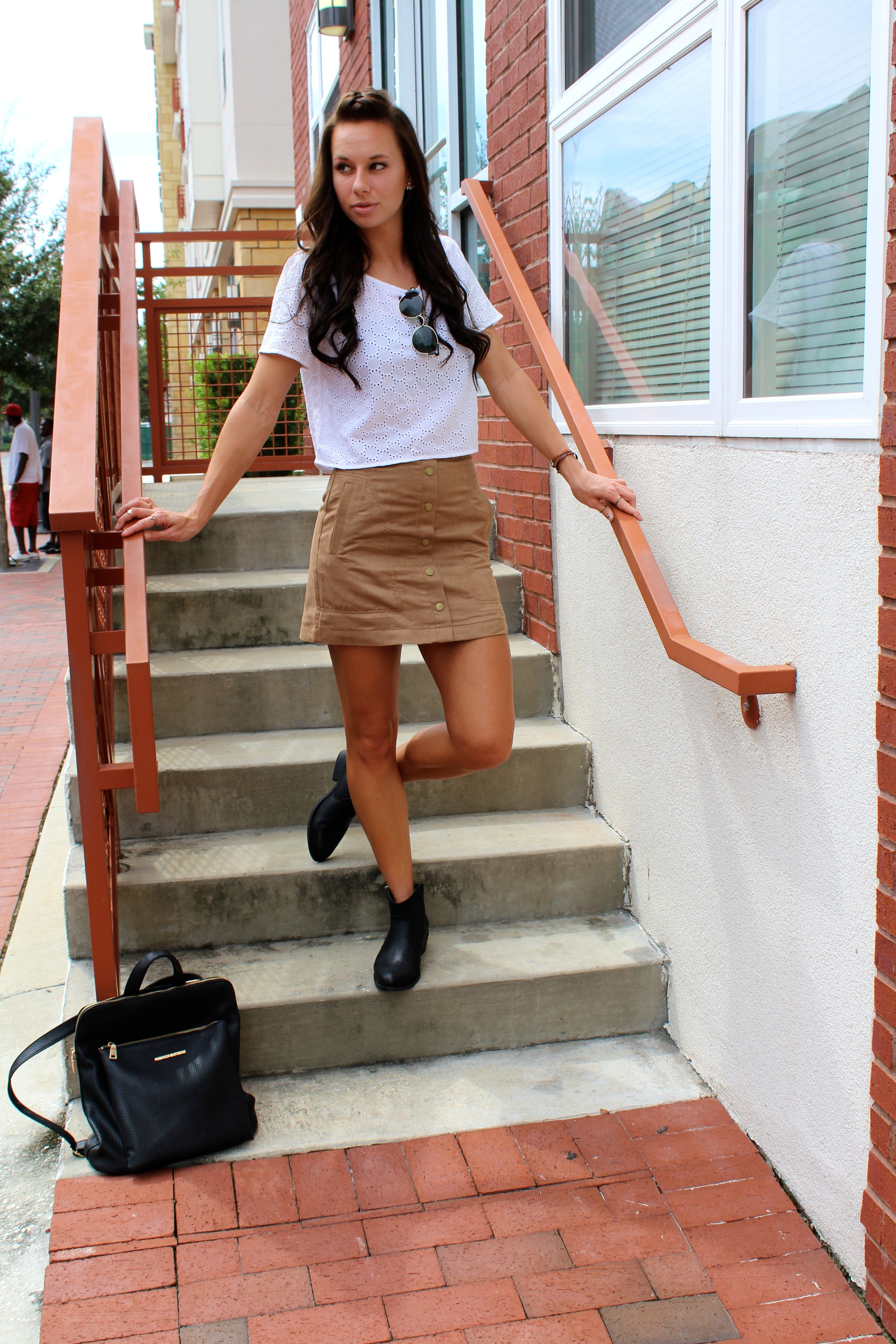 Back to School Look  | #backtoschoollooks #booties #fallboots