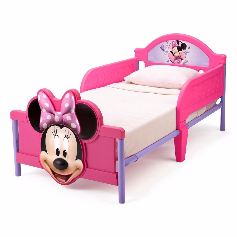 Minnie Mouse Kids Girls Interactive Furniture Footboard Toddler Bed Set