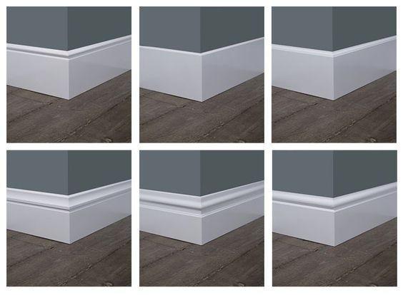 Alle profielen van de mdf plinten naast elkaar vloer pinterest plinten vloeren en plint - Modern plafondgieten ...