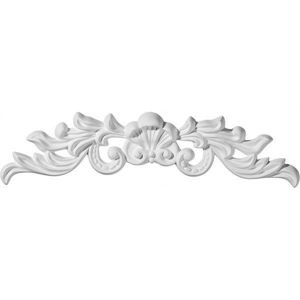 Ekena Millwork ONL16X04X01MA 16 3//8-Inch W X 4 3//4-Inch H X 3//4-Inch P Marcella Medium Leaf with Scrolls Onlay
