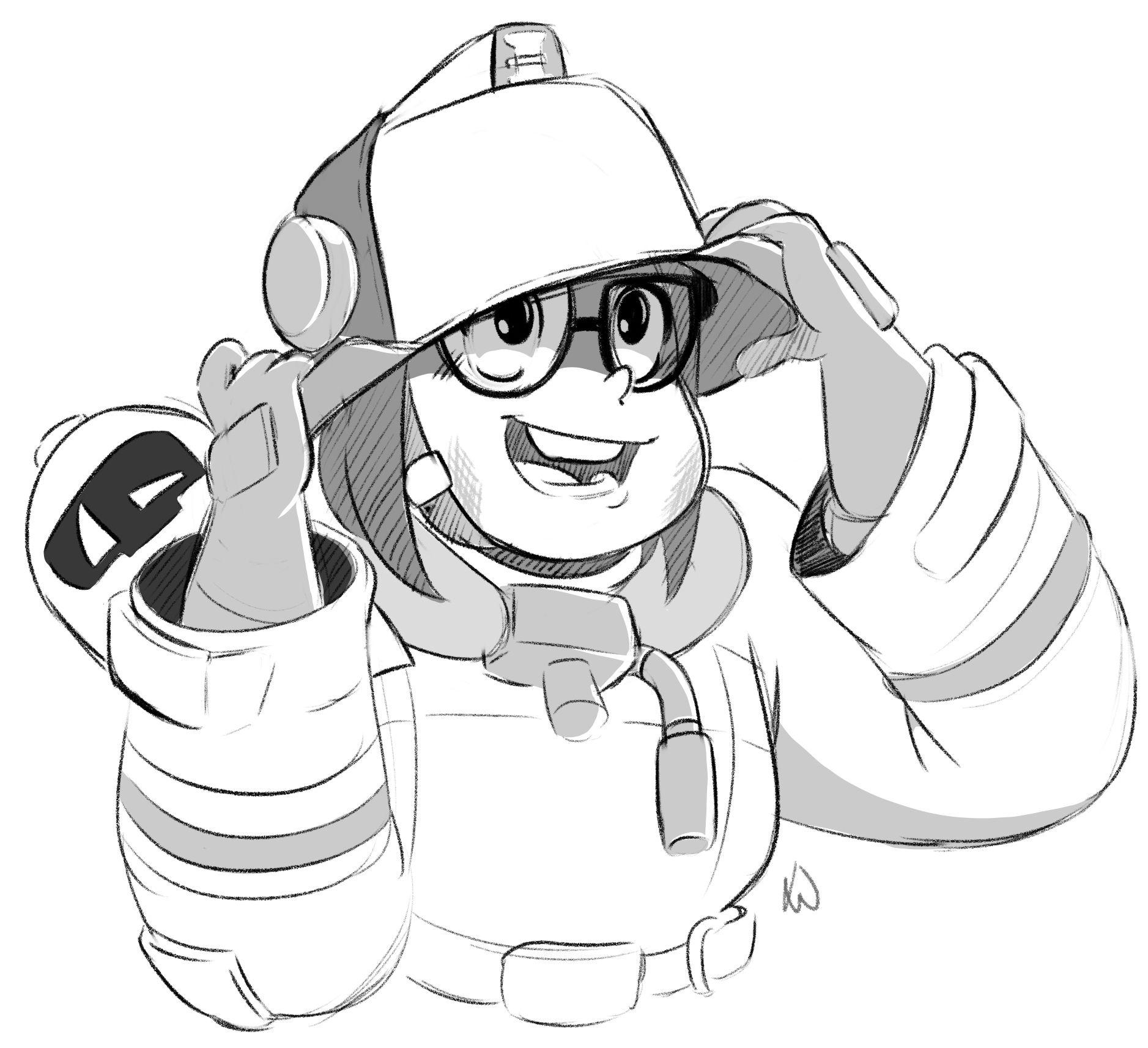 Firefighter Mei D My arts, Zelda characters, Art