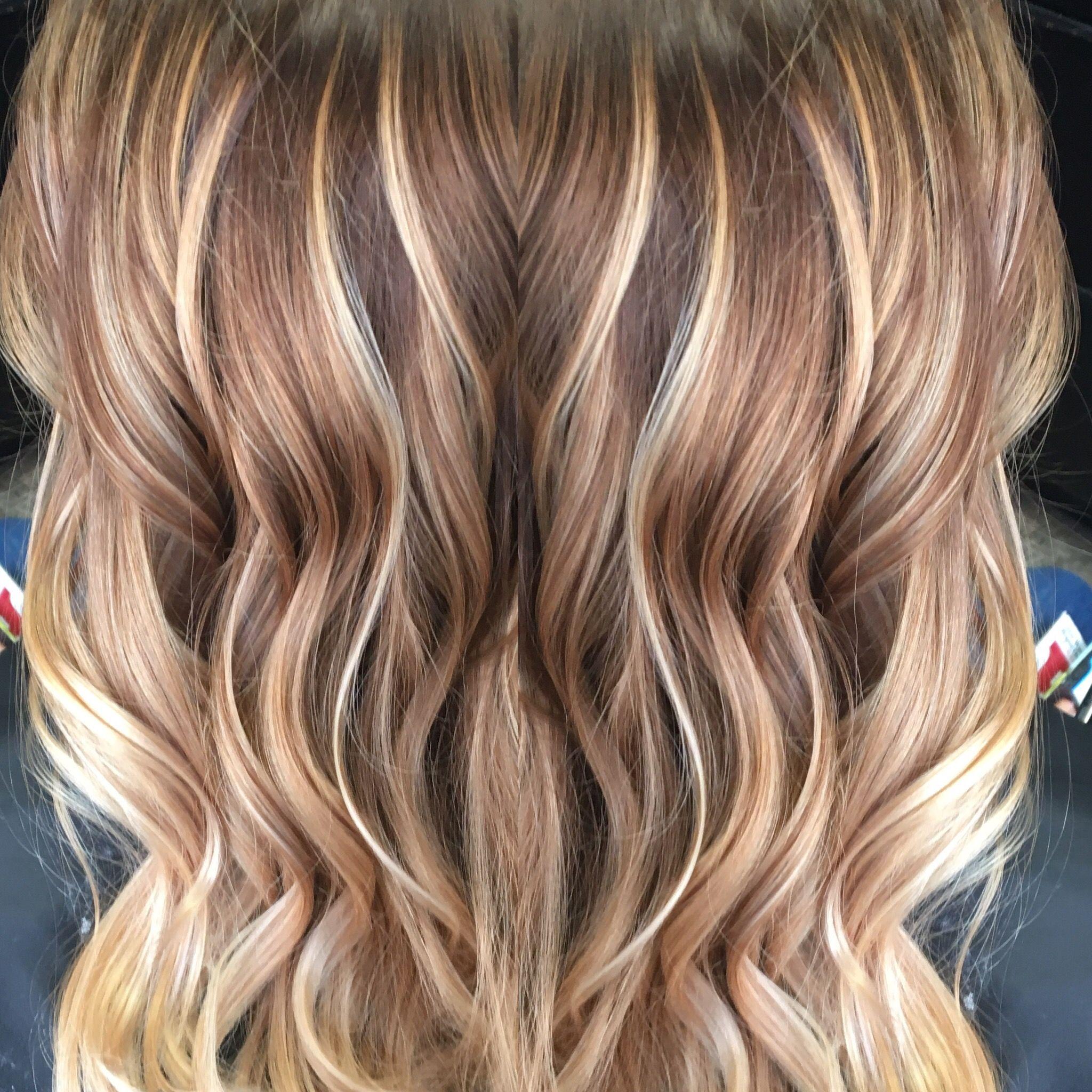 Caramel And Blonde Balayage Balayage Hair Blonde Balayage