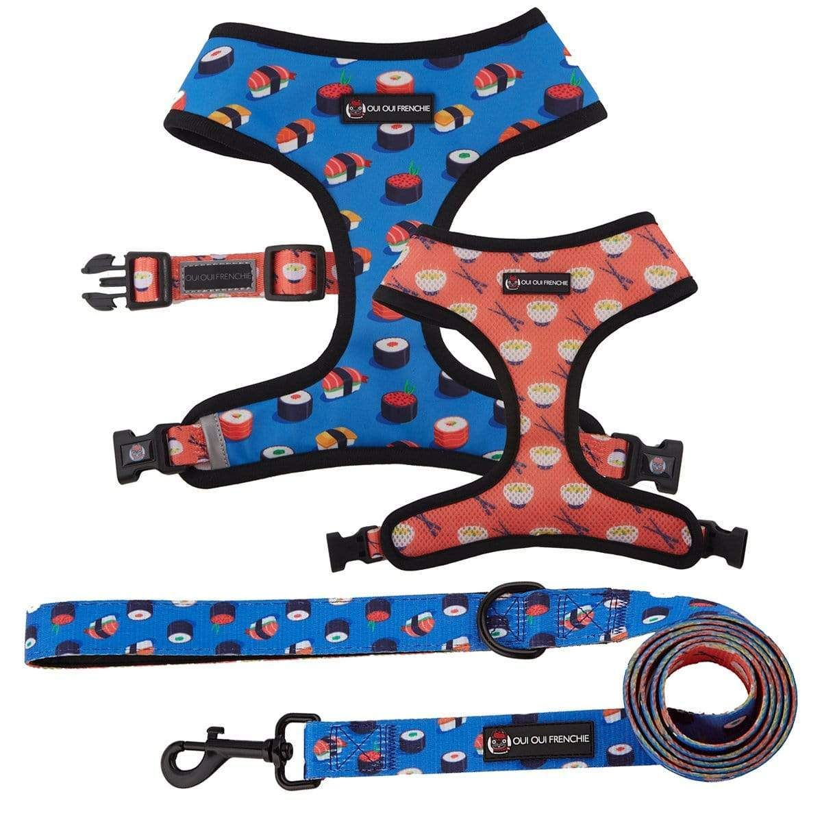 ⭐️⭐️⭐️⭐️⭐️ 5 star review: Great Harness Ordered the sushi reversible harness and leash combo. It fits our boy Harvey perfectly. Love it!! Will be buying more.