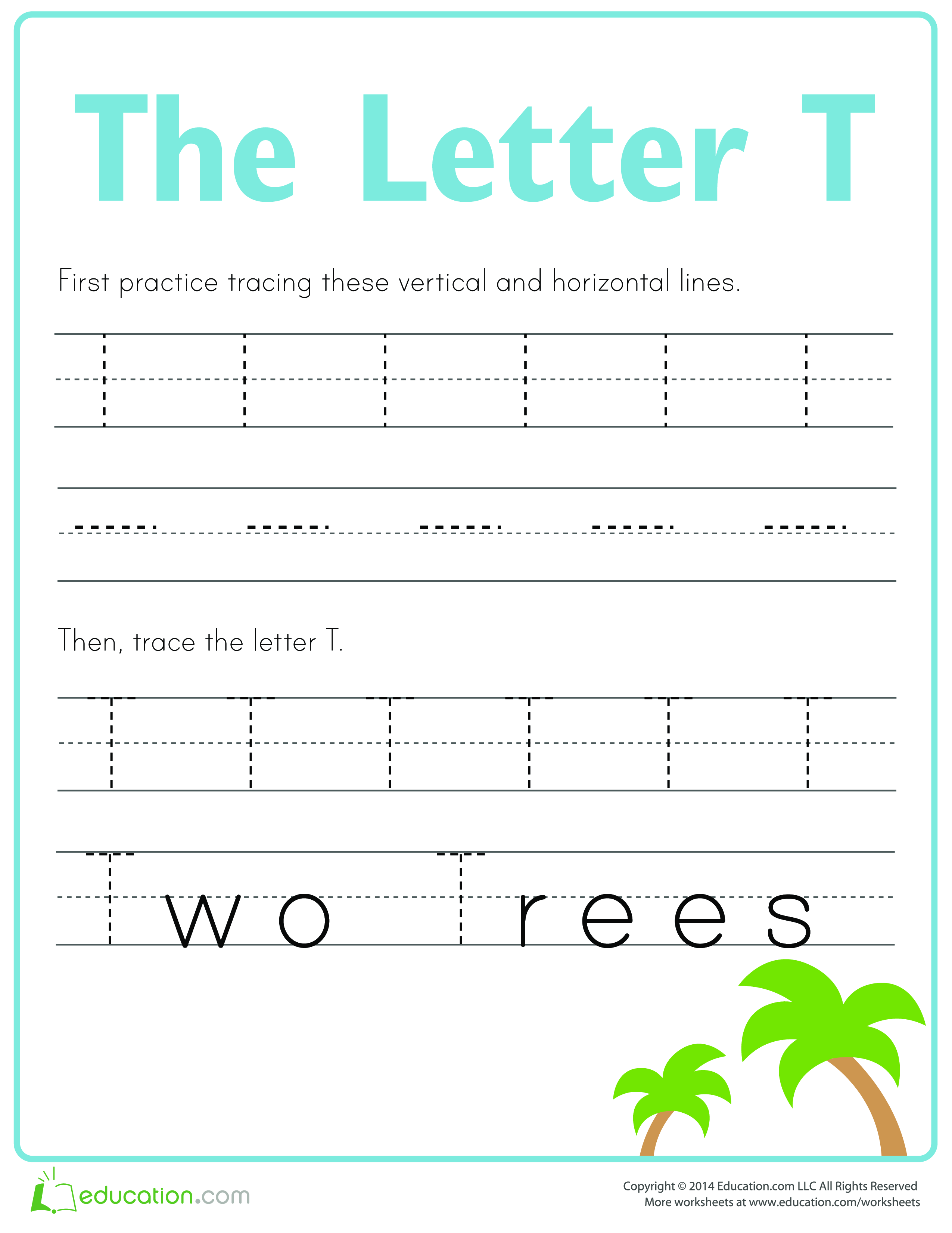 Learn to write letter T - Download this How to write letter T if ...