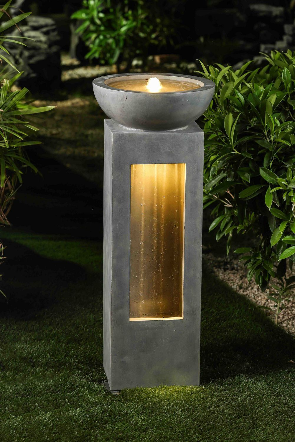 Garden Fountain With Led Light Walmart Canada Fountains