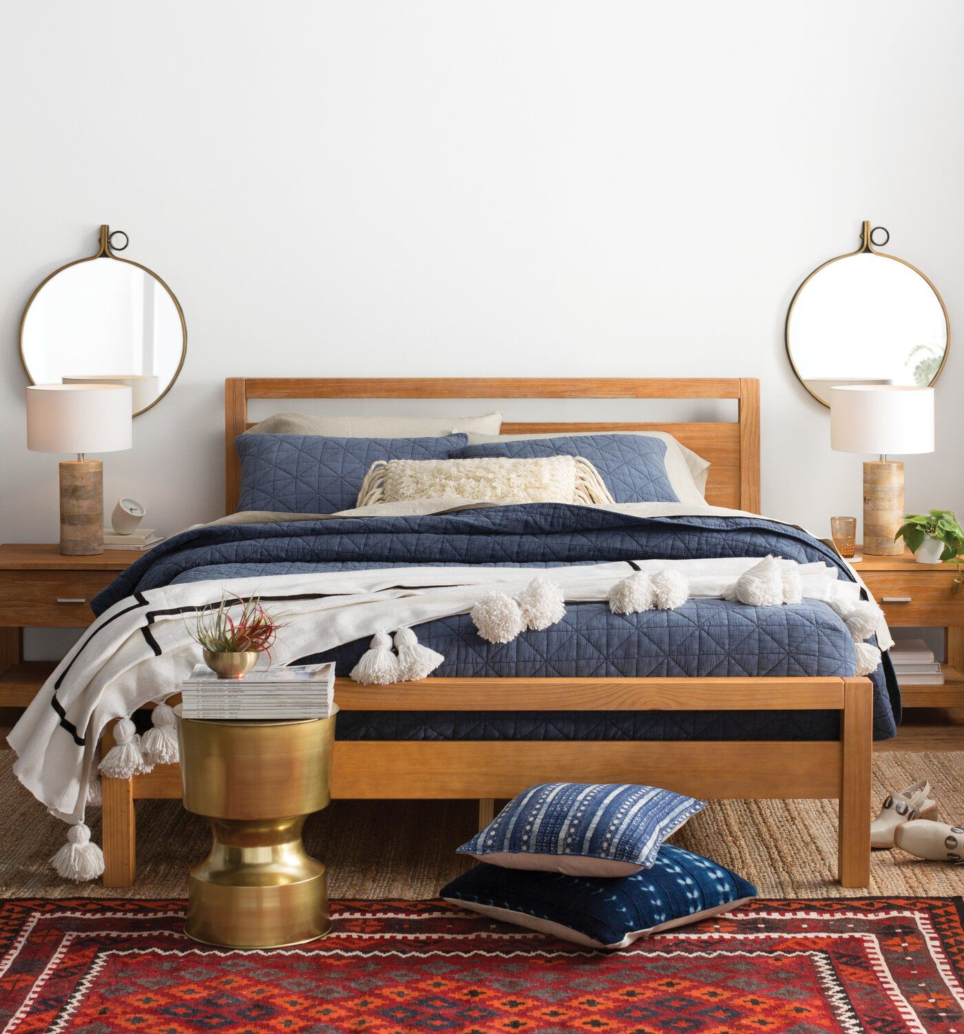 Juno Pom Blanket Reviews Allmodern Simple Bedroom Decor