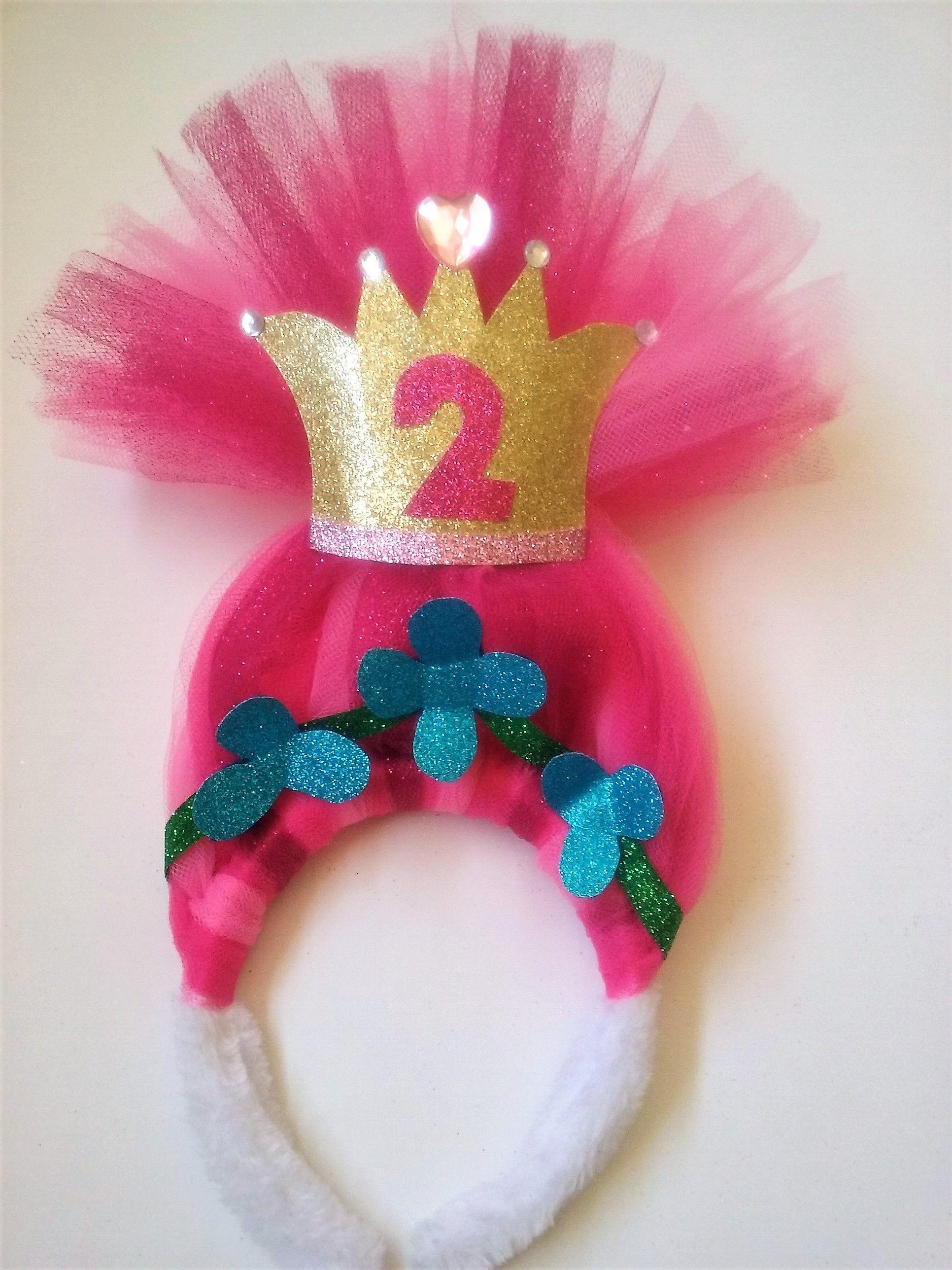 troll party hair headband
