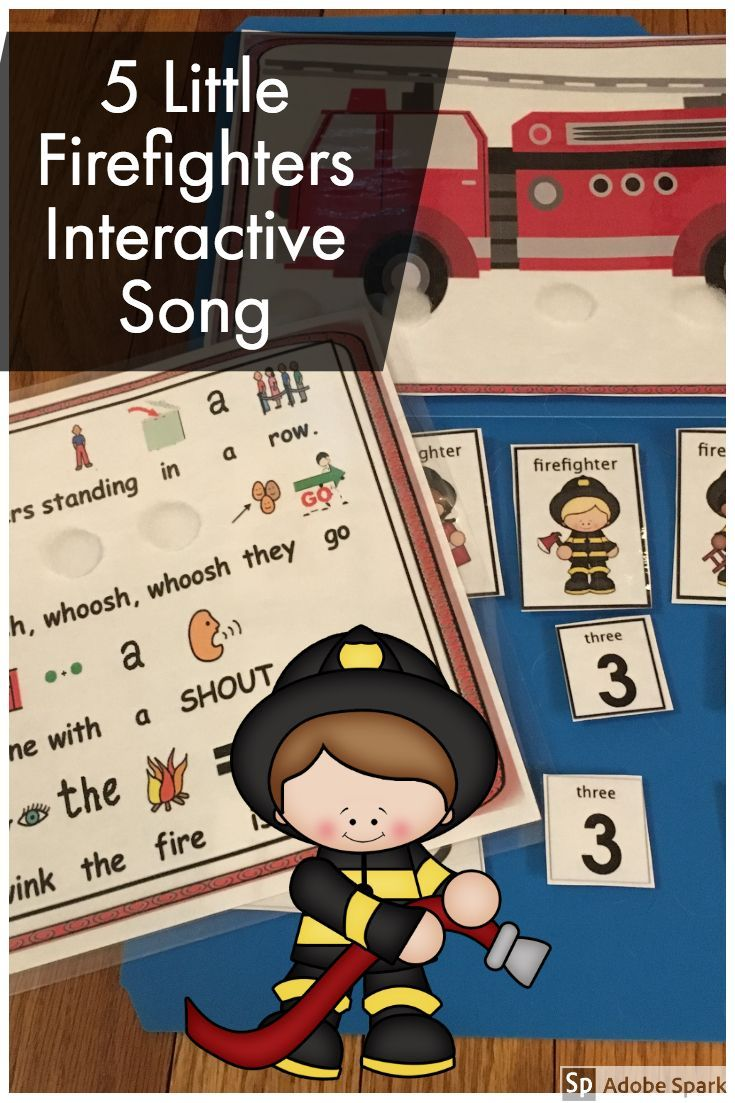 Circle time fun five little firefighters poem