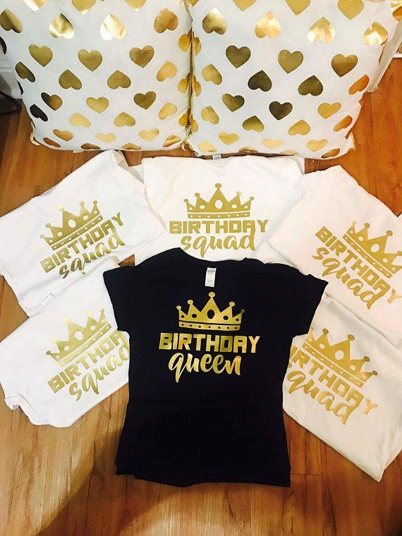 1ced7d96b Birthday shirts for women, birthday squad shirts, birthday shirt women,  squad goals, adult birthday
