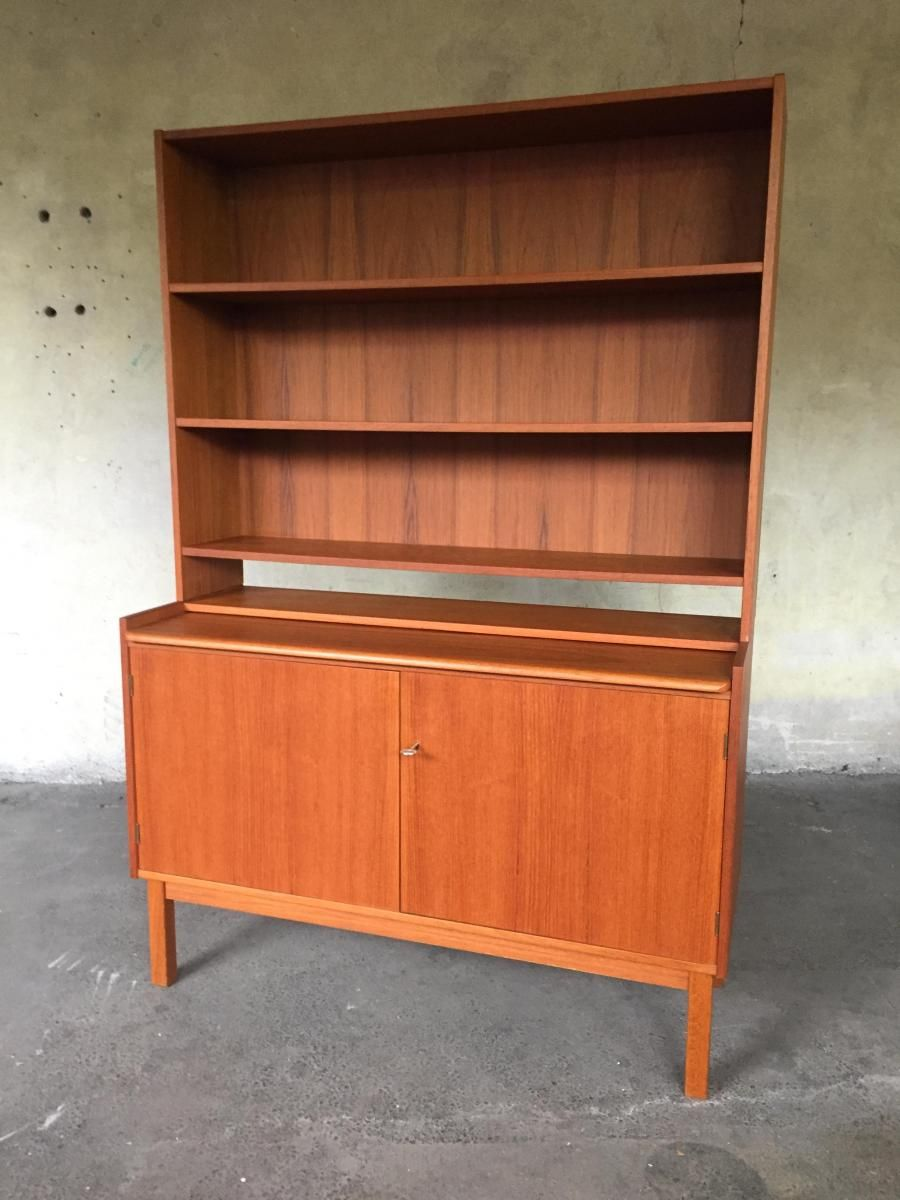 Schwedischer Vintage Sekretar 1960er Vintage Teak Holz Und 1960er