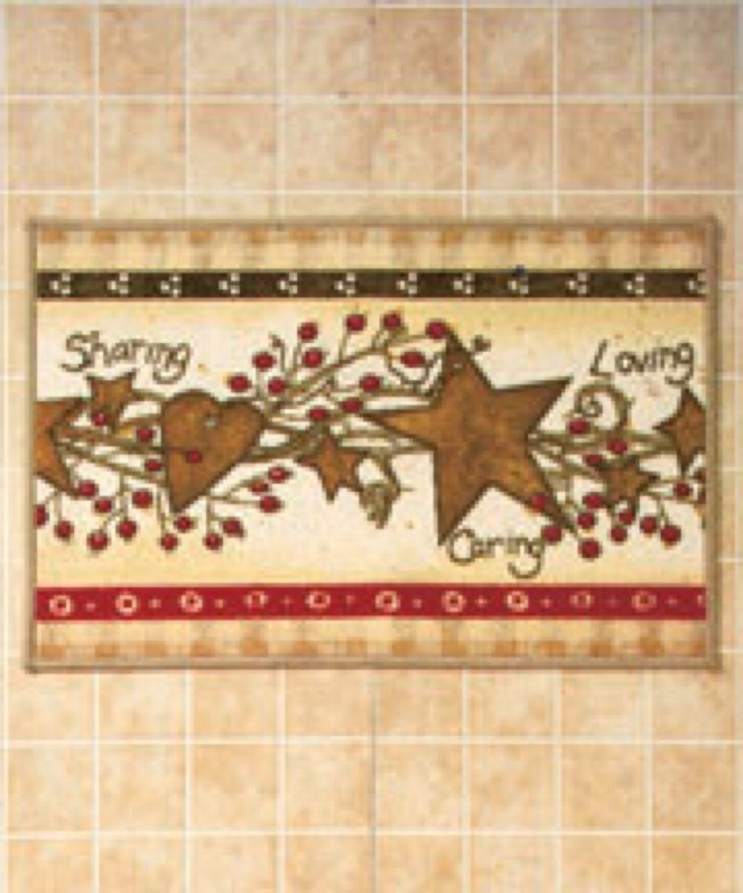 Country hearts and stars rug sharing u caring bathroom rug home