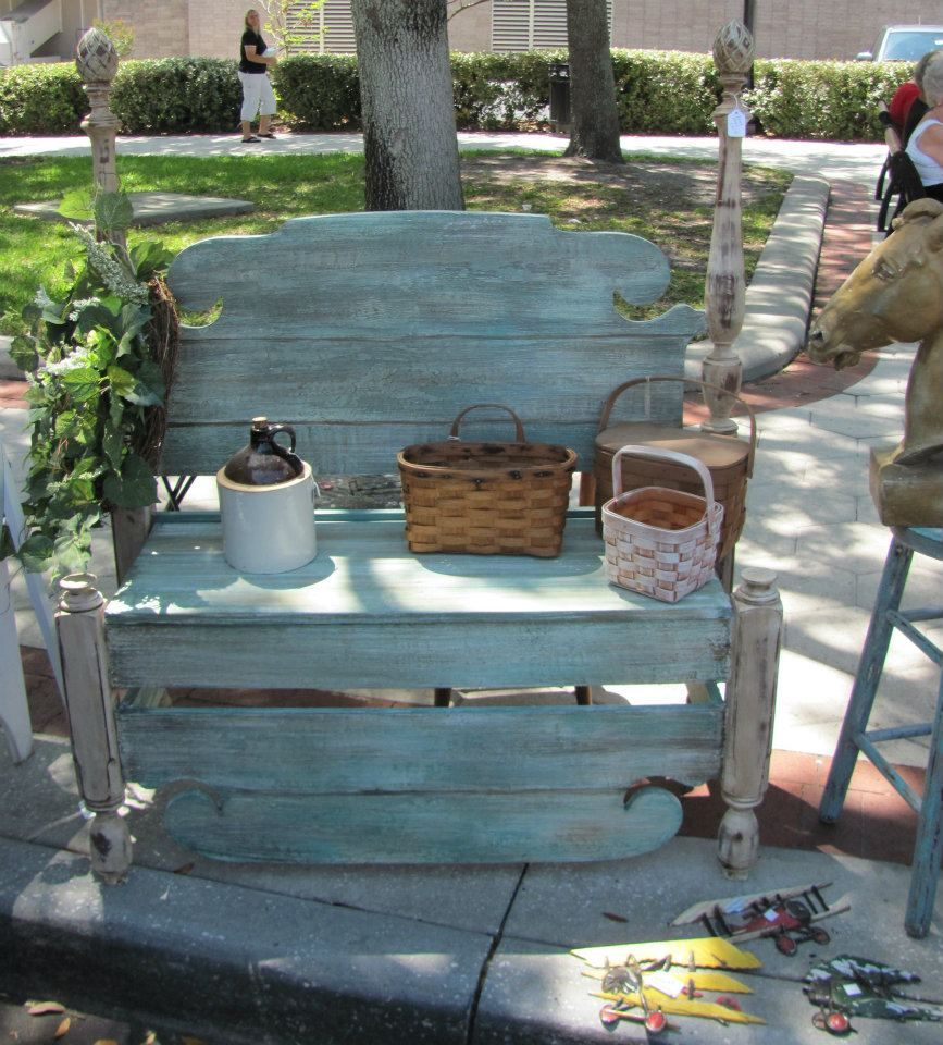 Garden Furniture Shabby Chic shabby chic garden bench i love this!!! i have a headboard and