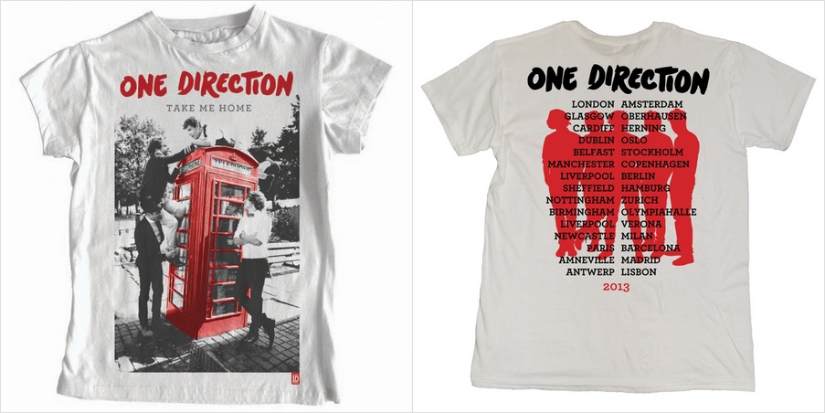 One Direction Merchandise Take Me Home Tour Icon T Shirt 50 Small Medium Large Merchandise One Direction Mens Tops