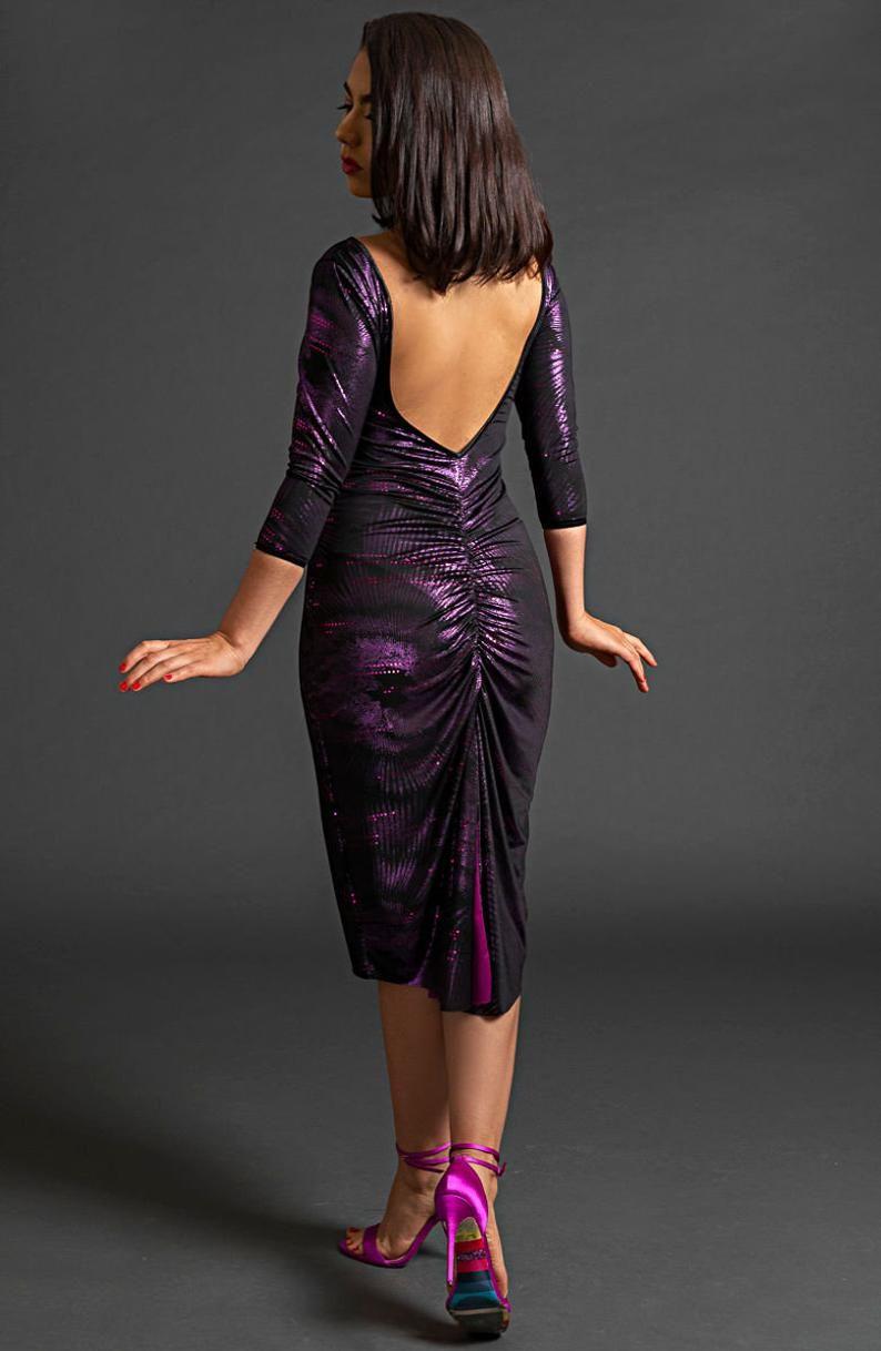 Tango Milonga Kleid. Reversible Diamant geschnitten, Low ...