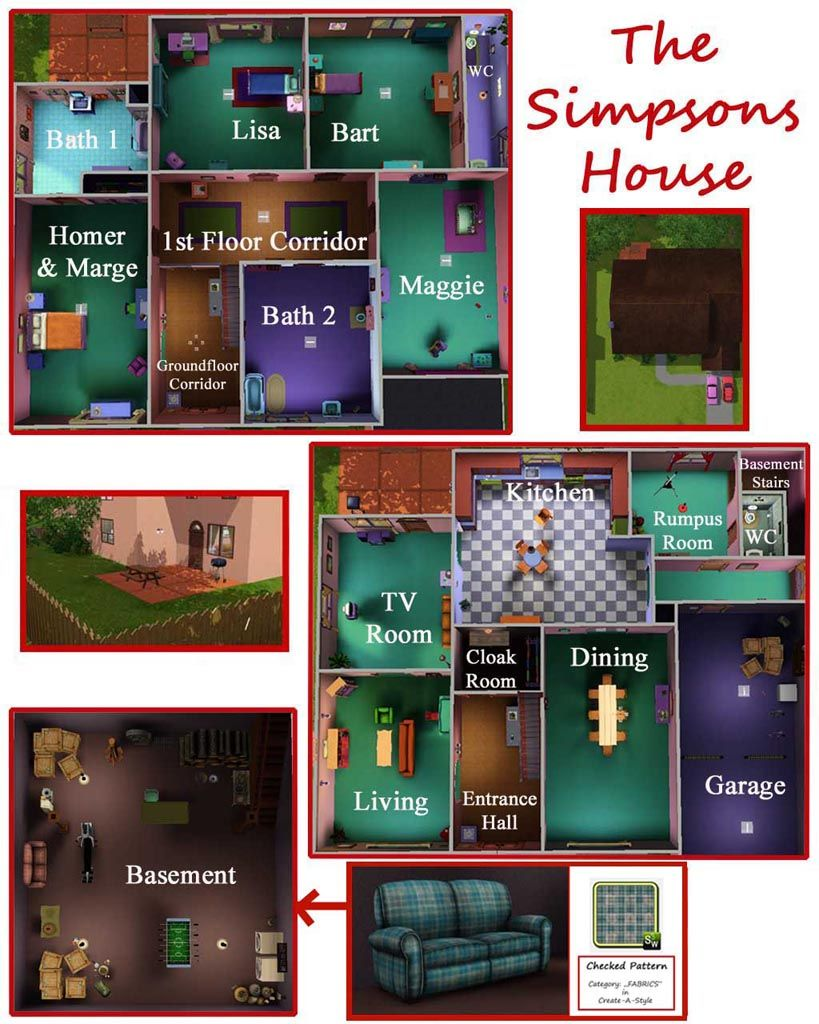 The Simpsons House 742 Evergreen Terrace Springfield House Layouts House Floor Plans House Flooring