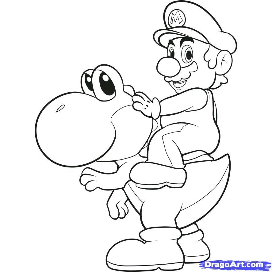 How to draw Mario bros Colouring Pages | Coloring pages | Pinterest ...