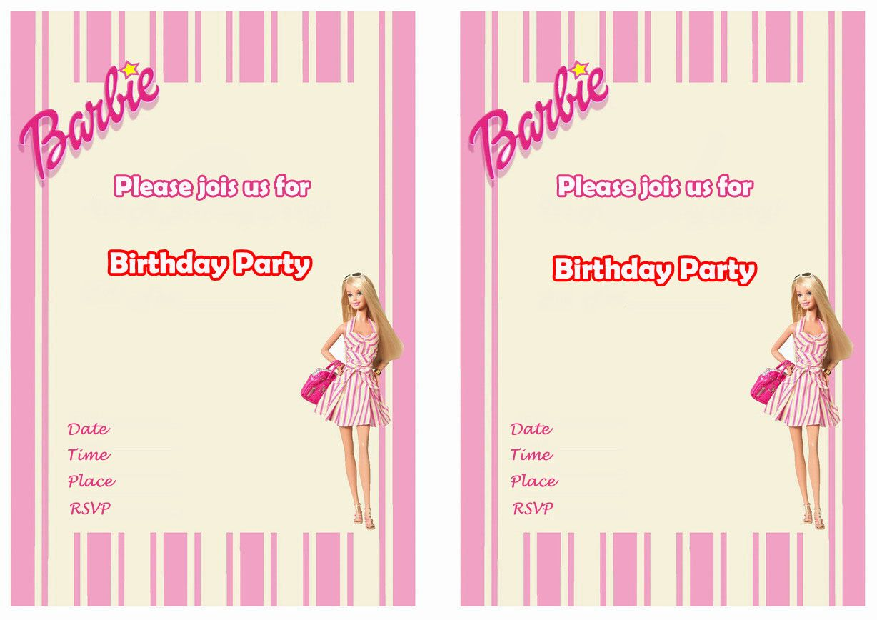 Barbie birthday invitations birthday printable places to visit barbie birthday invitations birthday printable stopboris Gallery