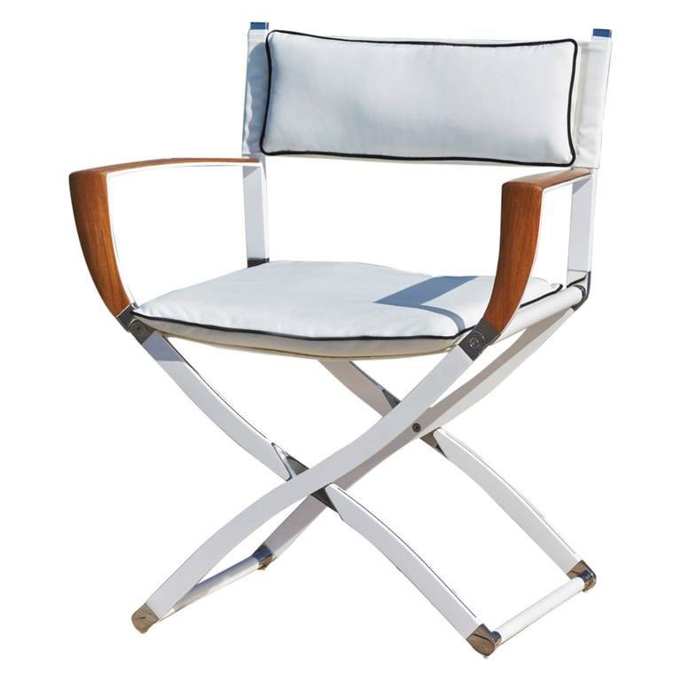 Elegant Gosling Marine Carbon Fibre And Teak Directoru0027s Chair