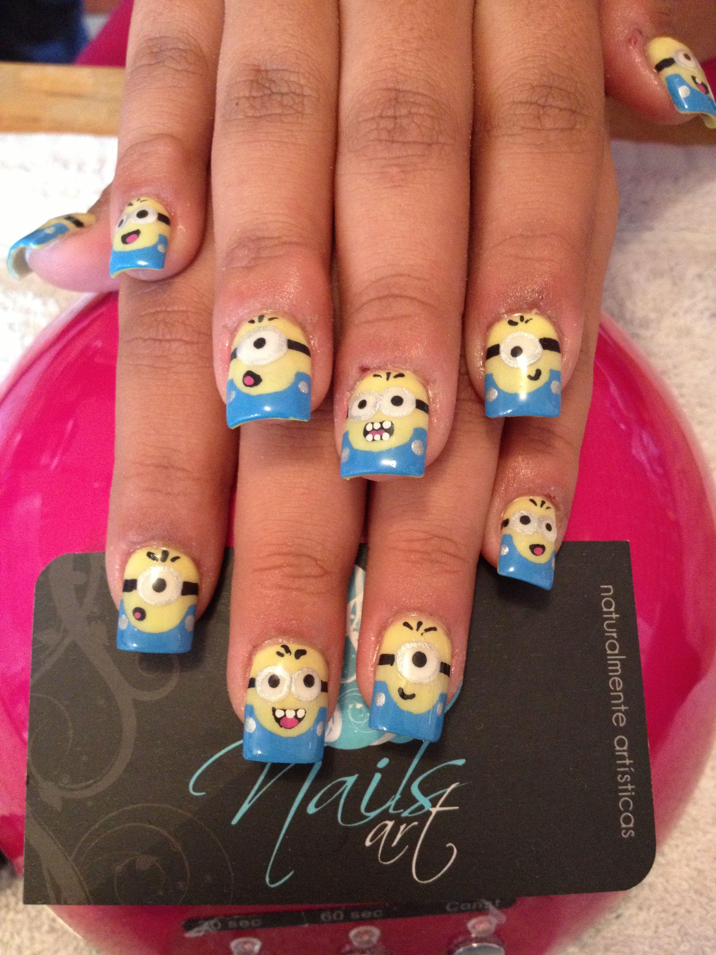Nails Art Acrylic Minions