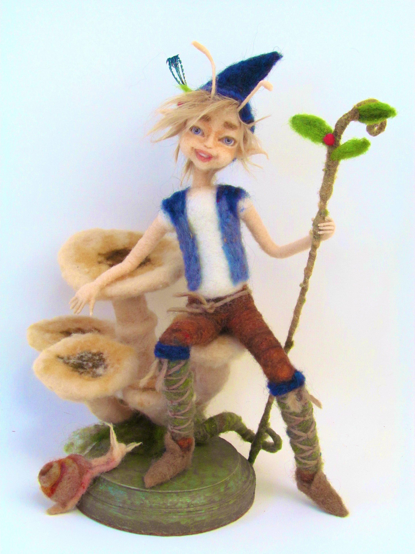 Elf, Art Doll, Art & Collectibles, Fantasy, Needle Felt Elf