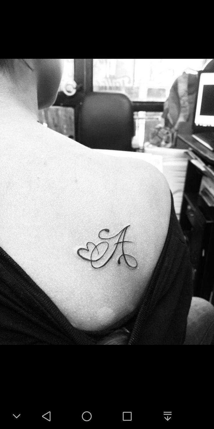 Initial tattoo for bf,  #initial #initialtattooideas #Tattoo