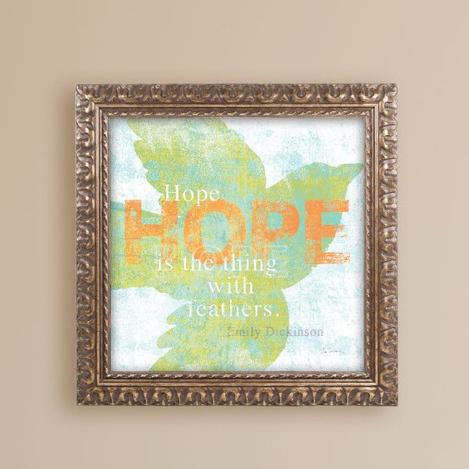 Letterpress Hope by Sue Schlabach Framed Graphic Art