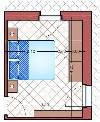Minimas dimensiones para dormitorios matrimoniales for Diseno de habitacion matrimonial con bano