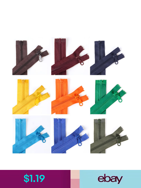Plastic Resin Slider Teeth Chunky Open Ended Zipper Separating For Clothes Coat