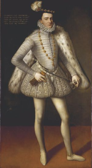 1572 The Duke Wears Wide Somewhat Melon Shaped Paned Trunk Hose With A Codpiece His Jacket W 16th Century Fashion Renaissance Fashion 16th Century Clothing