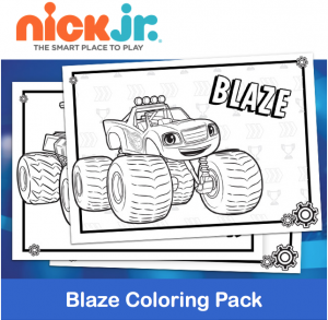 Free Printable Nick Jr Blaze Coloring Pack
