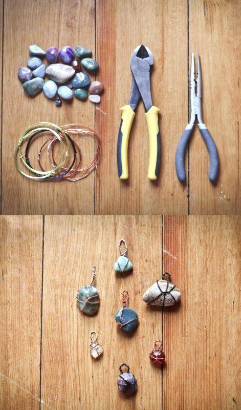 Photo of DIY stone pendants – handicrafts with stones – DIY stone pendants – handicrafts …