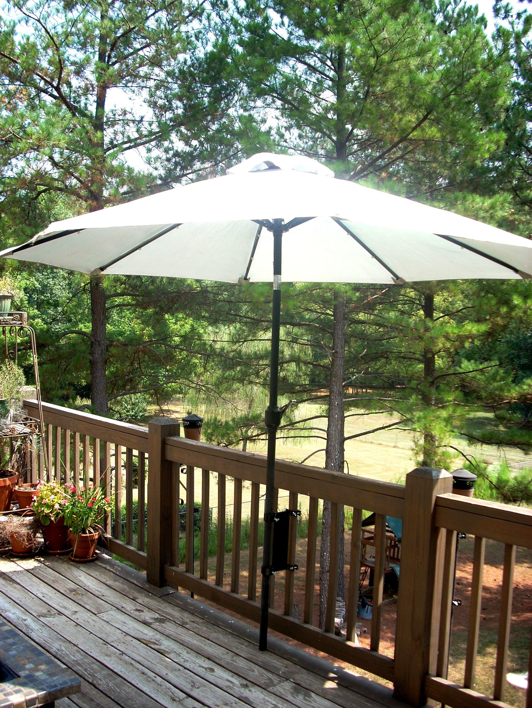Umbrella Mount For The Deck Space Saver Patio Patio Umbrella Patio Deck