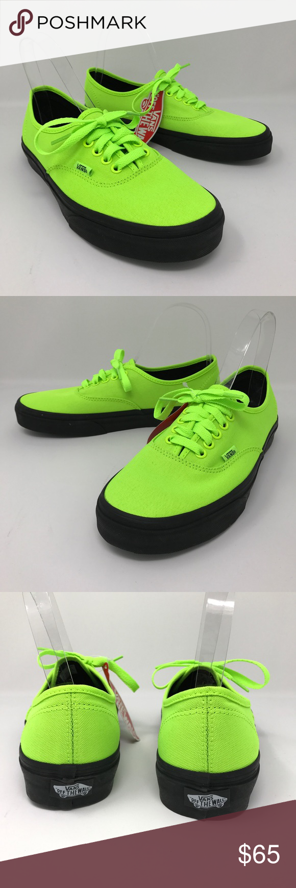 3b53bcc506 Vans Authentic Black Outsole womens Sz 9 New VANS Authentic Black Outsole  Women s Sz 9 Neon Green Shoes Size Men s 7.5 NEW Size  Men s 7.5 Women s Sz  9 ...