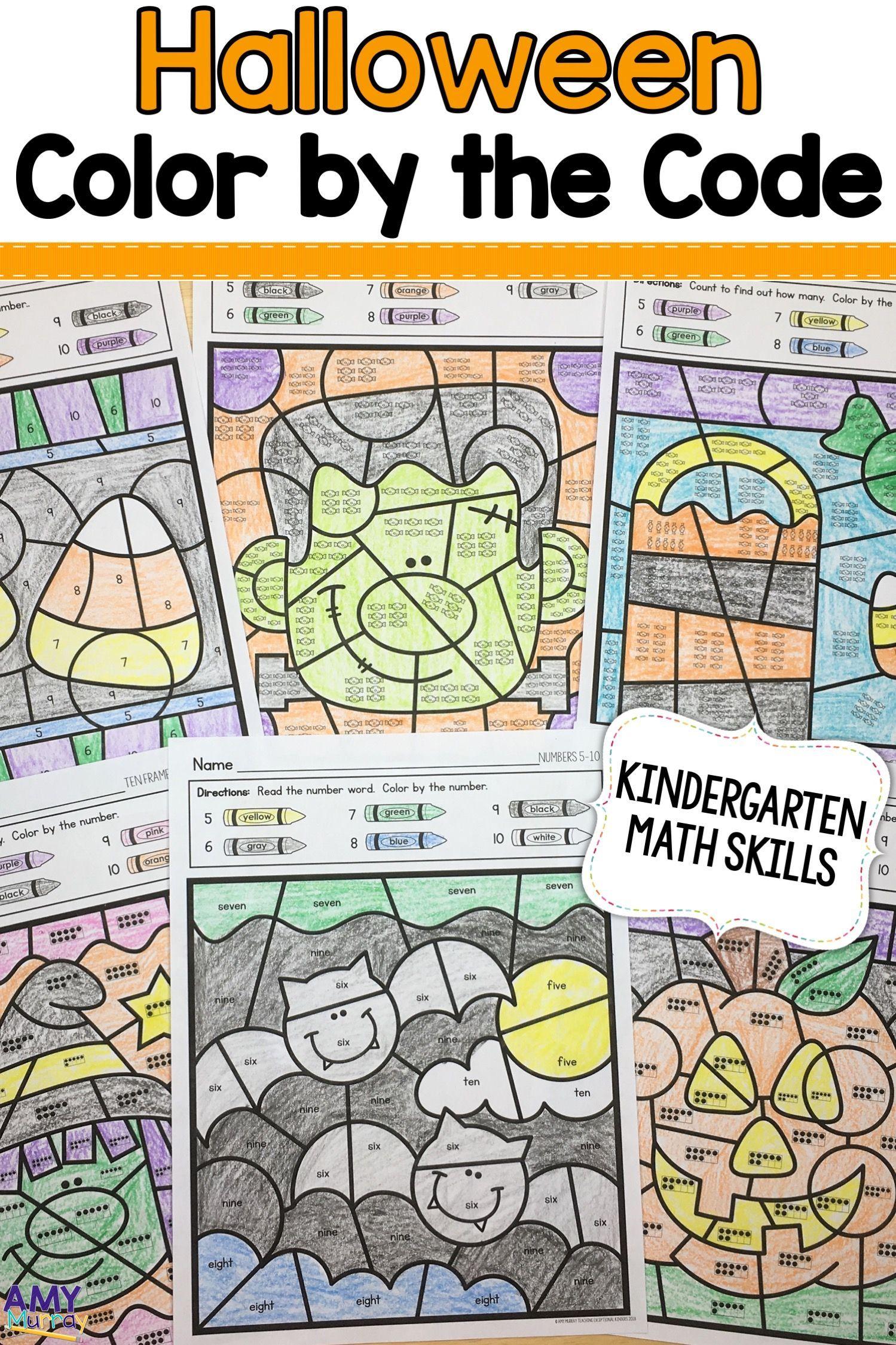 Halloween Color By Number Kindergarten Math Worksheets Kindergarten Math Numbers Kindergarten Halloween Coloring [ 2249 x 1499 Pixel ]