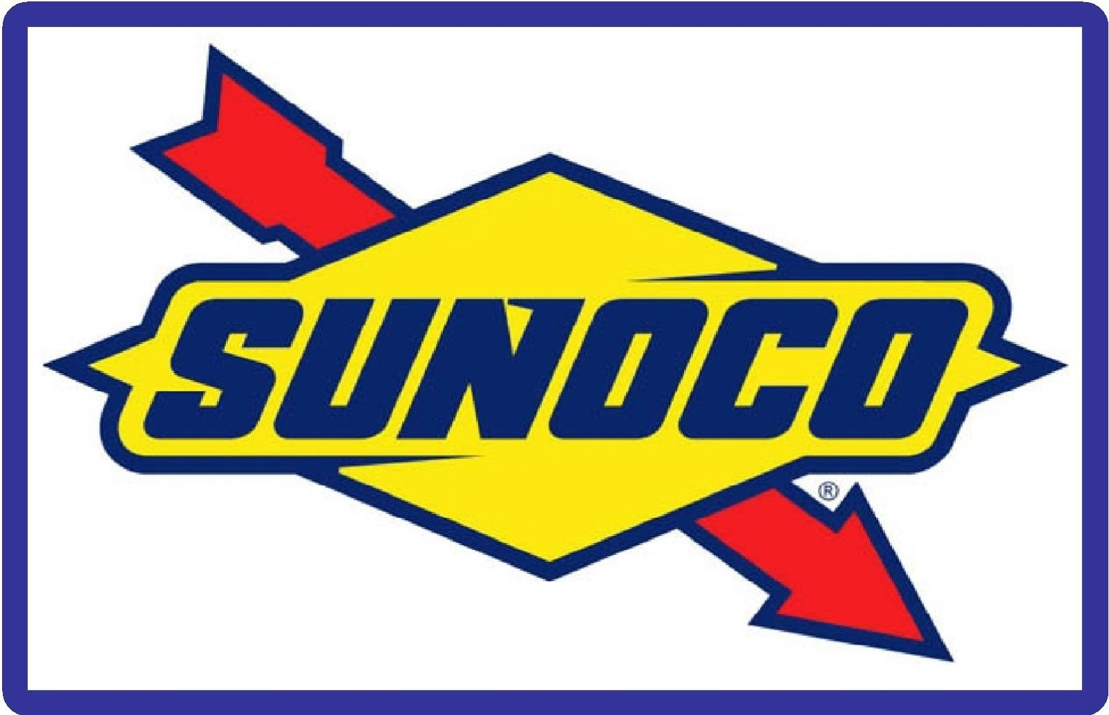5 5 Sunoco Gas Station Sign Refrigerator Tool Box Magnet Man Cave Ebay Collectibles Gas Gift Cards Logos Gas Station