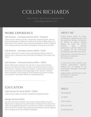 75 Free Resume Templates for MS Word Template and Cacti
