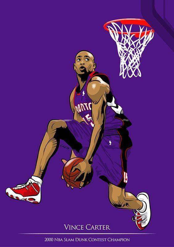 Vince Carter Champion Slam Dunk Contest 2000 Carter Champion Contest Dunk Slam Vince Nba Art Nba Mvp Nba Basketball