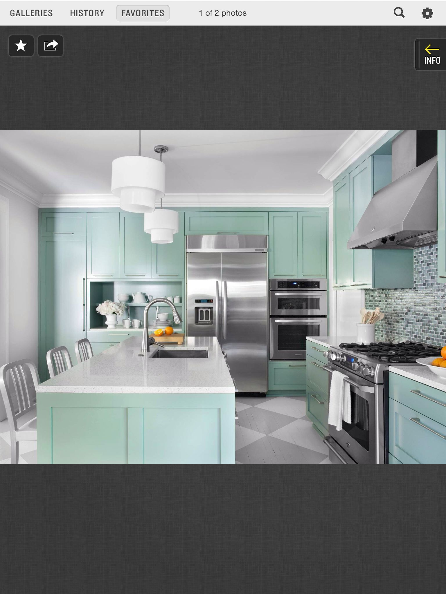 Kitchen Design Neutral Paint Color For Kitchen With Teal Cabinet And High End Stainless Steel Kitchen Appliances bined With Mosaic Tiles Backsplash And