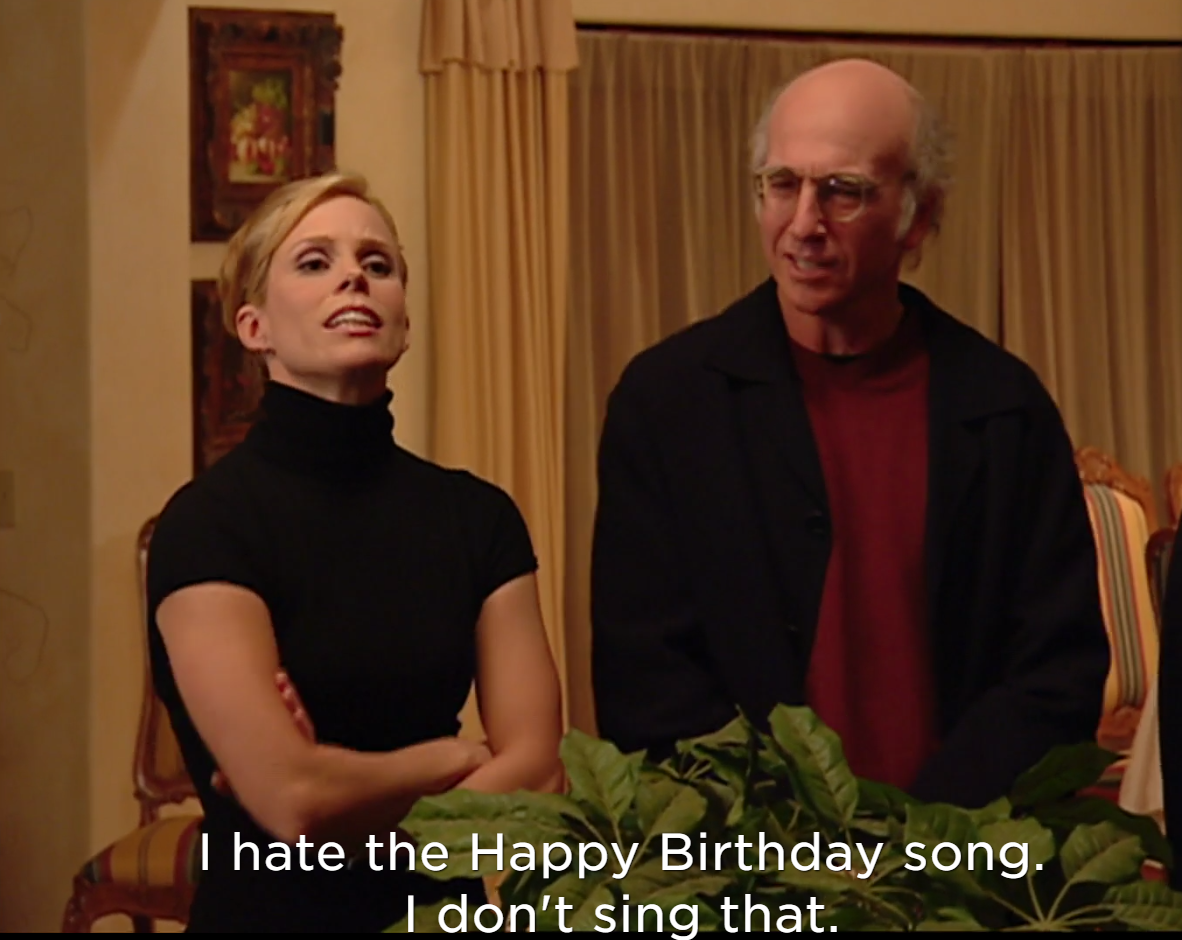 Pin By Henrik Sjoberg On Me Curb Your Enthusiasm Happy Birthday Song Birthday Songs