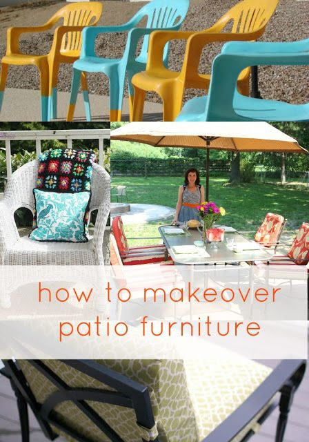 Goodwill Tips Easy For Making Over Patio Furniture Those Plastic Chairs Look So Much Better Just Being In Bright Colors