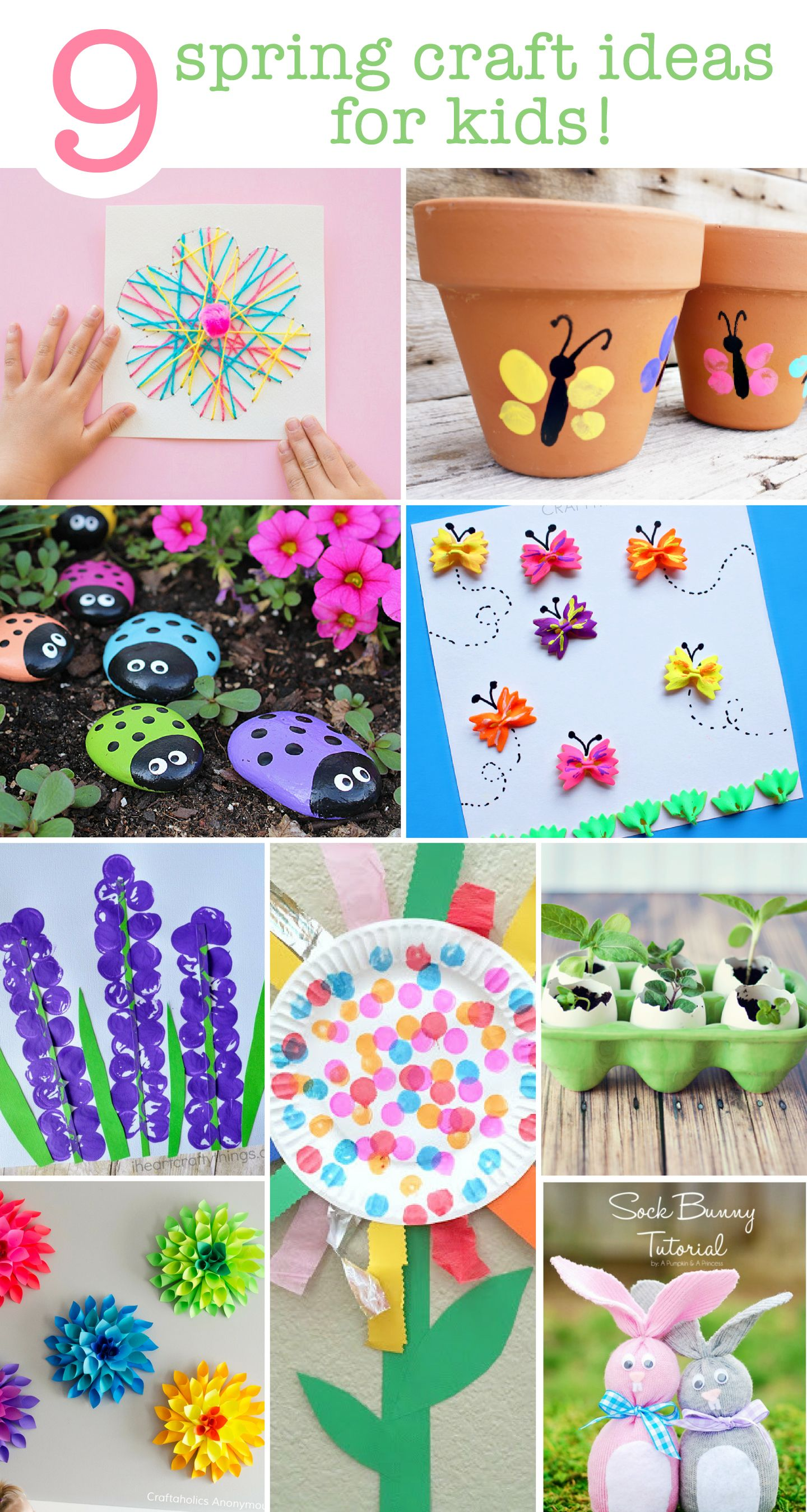 Cute Spring Craft Ideas For The Kids Toddlers Too Great List For Those Rainy Days Spring Crafts For Kids