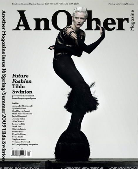 Tilda Swinton does cover-girl cool for latest Another Magazine shoot » Fashion Trends Labels Looks Couture Catwalk Wardobe Style