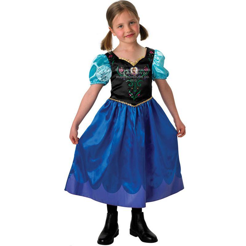 New Frozen Anna Elsa Costume u0026 Wig Girls Disney Princess Kids Fancy Dress Outfit   eBay  sc 1 st  Pinterest & New Frozen Anna Elsa Costume u0026 Wig Girls Disney Princess Kids Fancy ...