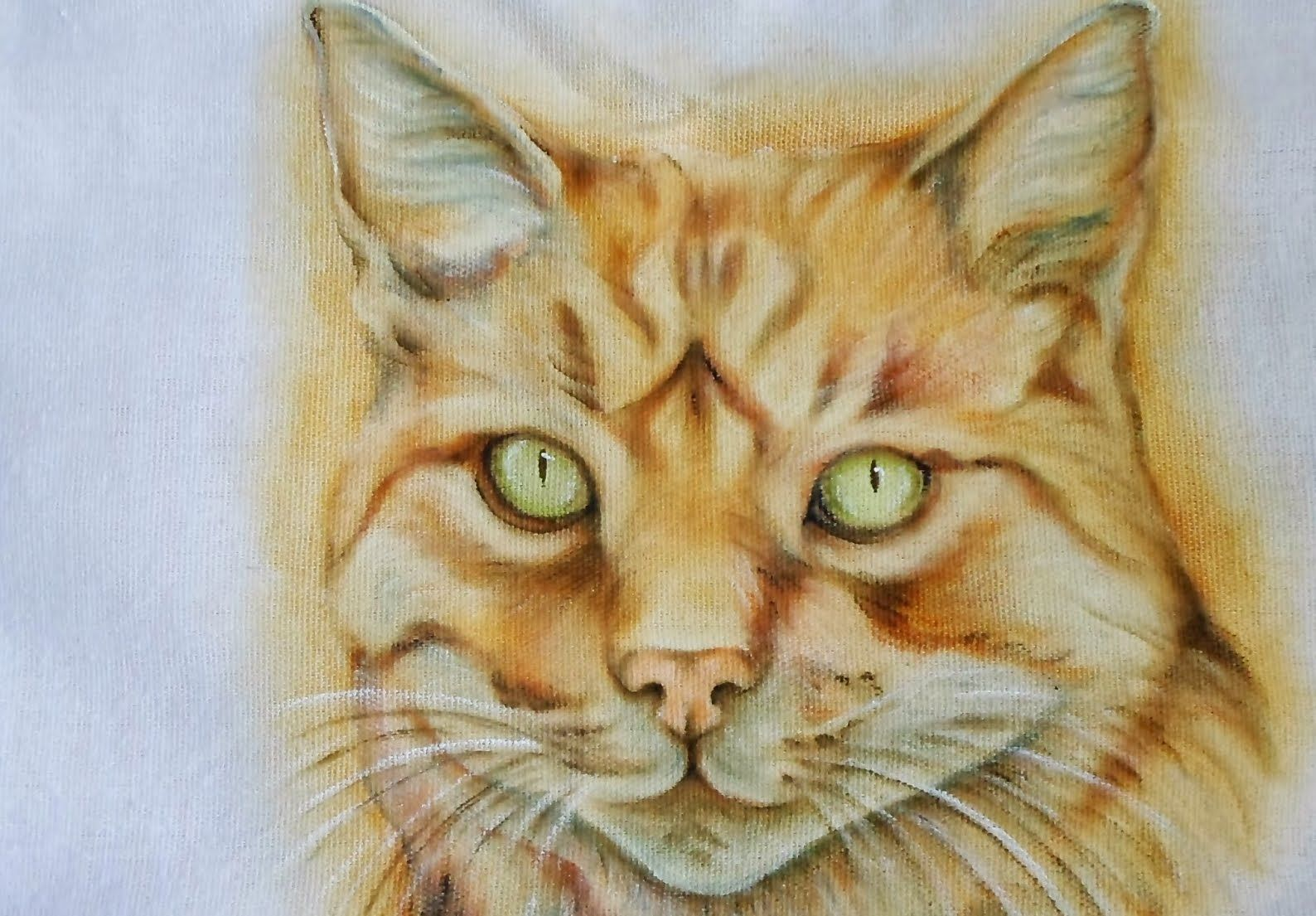 Gato Realista Pintura Em Tecido Pintura Pinterest Pintar