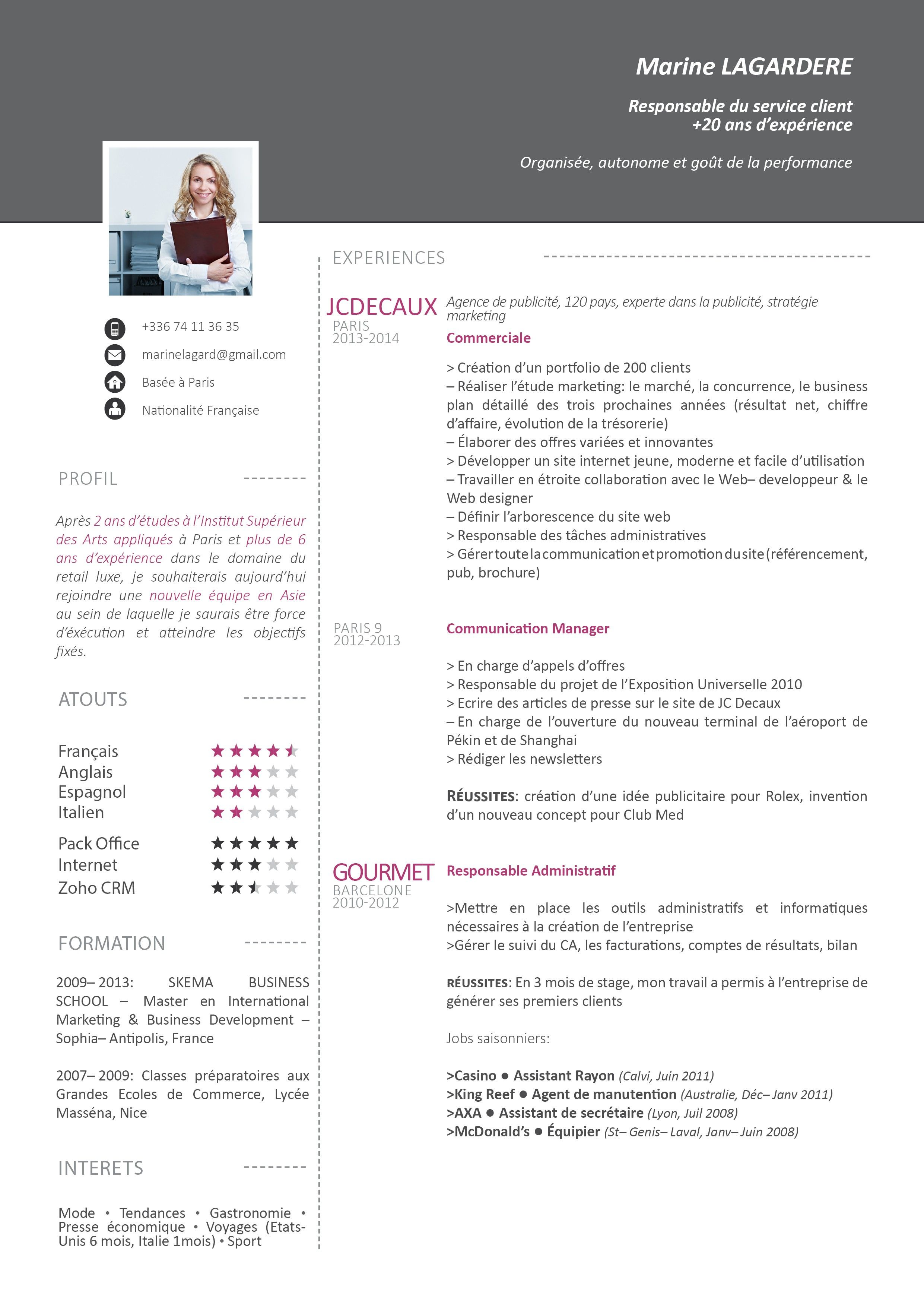 cv gratuit creatif mod les de cv pinterest cv template resume ideas and template. Black Bedroom Furniture Sets. Home Design Ideas