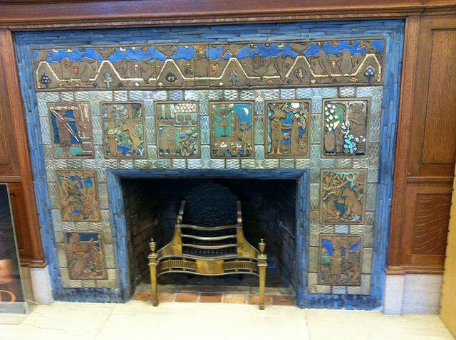 Pewabic Ceramic Fireplace Pewabic Pottery Mosaic Fireplace Fireplace