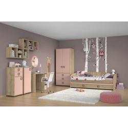 Photo of Kinderzimmer – Schreibtisch Benjamin 29, Farbe: Buche / Rosa – 76 x 125 x 60 cm (H x B x T) Steiners