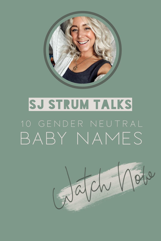 Sj Talks Gender Neutral Names Unisex Baby Names Baby Names Gender Neutral Names