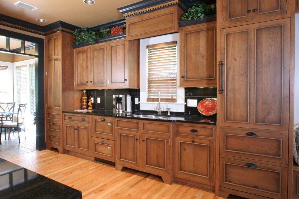 Impressive Refinishing Oak Kitchen Cabinets